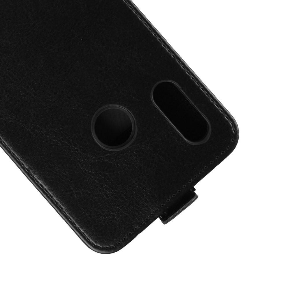 Вертикальный флип чехол книжка с откидыванием вниз для Huawei P smart+ / Nova 3i - Черный