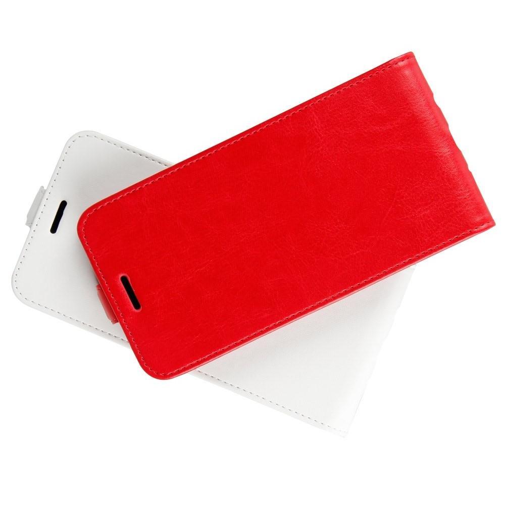 Вертикальный флип чехол книжка с откидыванием вниз для Huawei P smart+ / Nova 3i - Красный