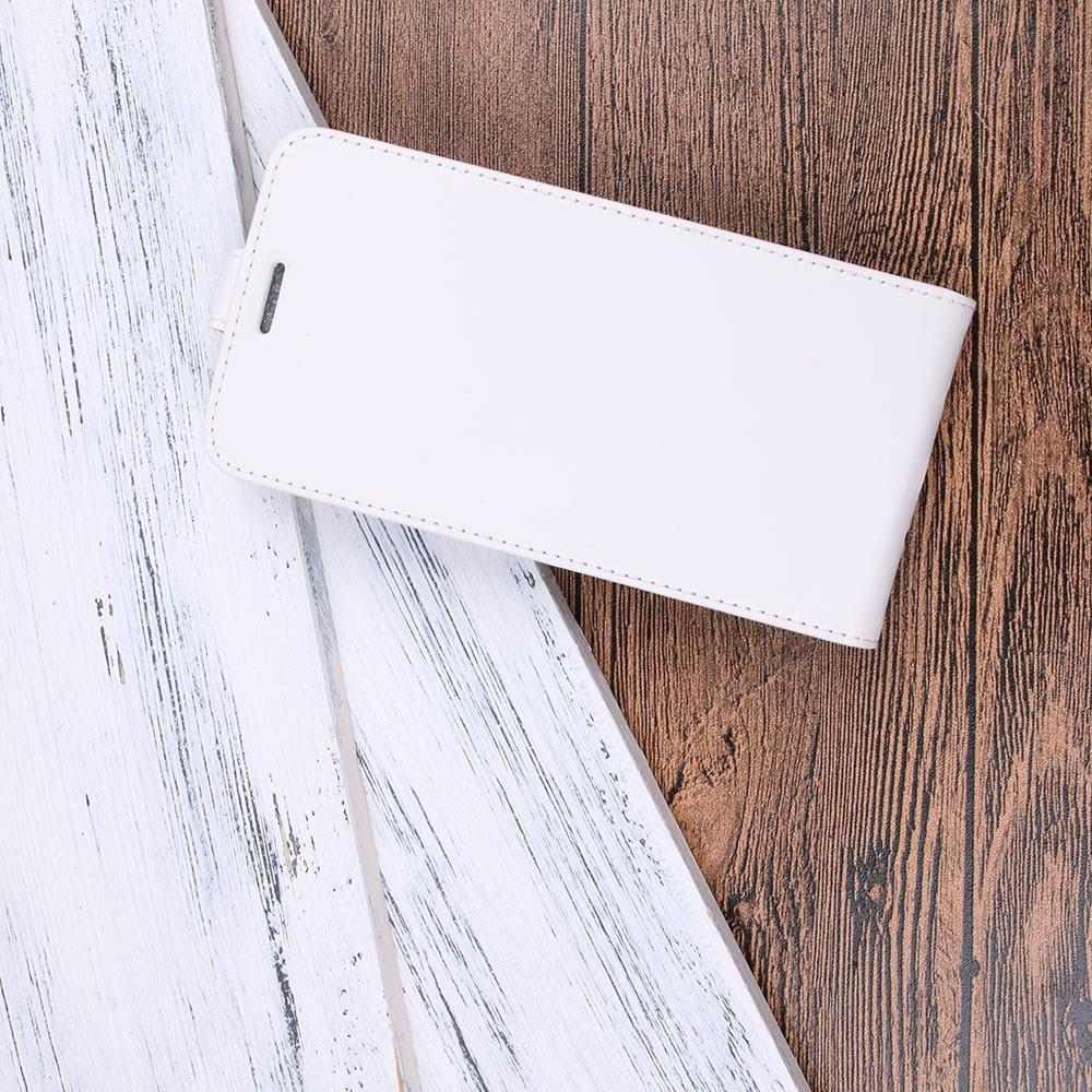 Вертикальный флип чехол книжка с откидыванием вниз для Huawei P20 - Белый
