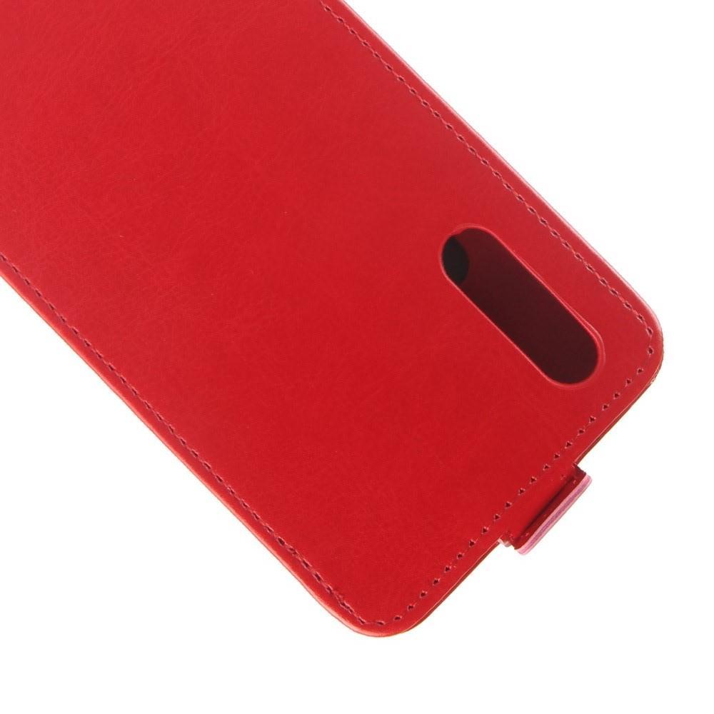 Вертикальный флип чехол книжка с откидыванием вниз для Huawei P20 - Красный