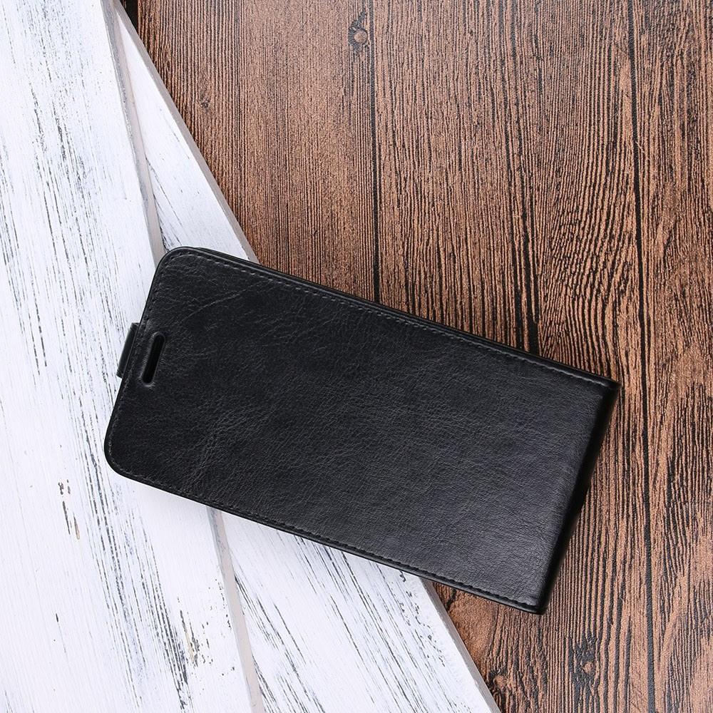 Вертикальный флип чехол книжка с откидыванием вниз для Huawei Y5 2018 / Y5 Prime 2018 / Honor 7A - Черный