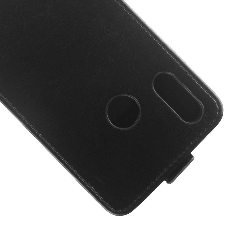 Вертикальный флип чехол книжка с откидыванием вниз для Huawei Y7 2019 - Черный