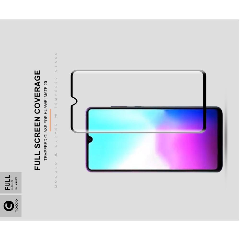 Закаленное Полный Охват Экрана MOCOLO Tempered Стекло для Huawei Mate 20 Черное