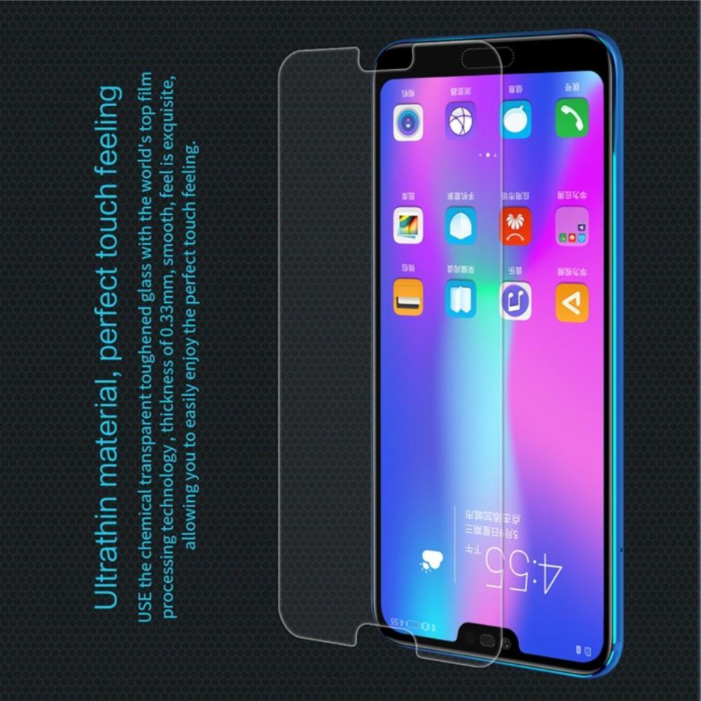 Закаленное Защитное Олеофобное NILLKIN H Прозрачное стекло на экран Huawei Honor 10