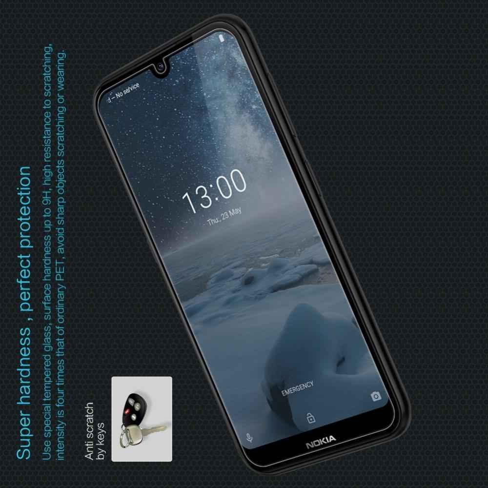 Закаленное Защитное Олеофобное NILLKIN H Прозрачное стекло на экран Nokia 4.2