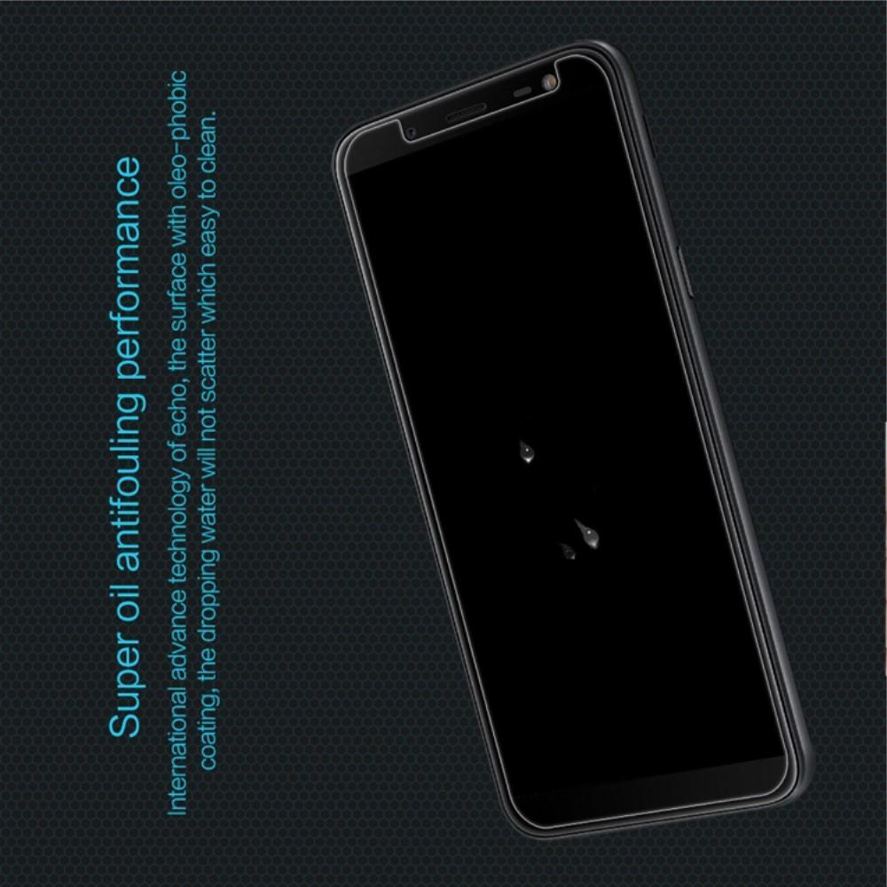 Закаленное Защитное Олеофобное NILLKIN H Прозрачное стекло на экран Samsung Galaxy J6 SM-J600