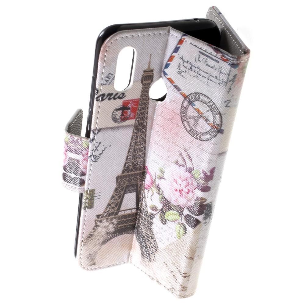 Защитный Флип Чехол для Huawei Honor Play в Виде Книжки с Рисунком Париж