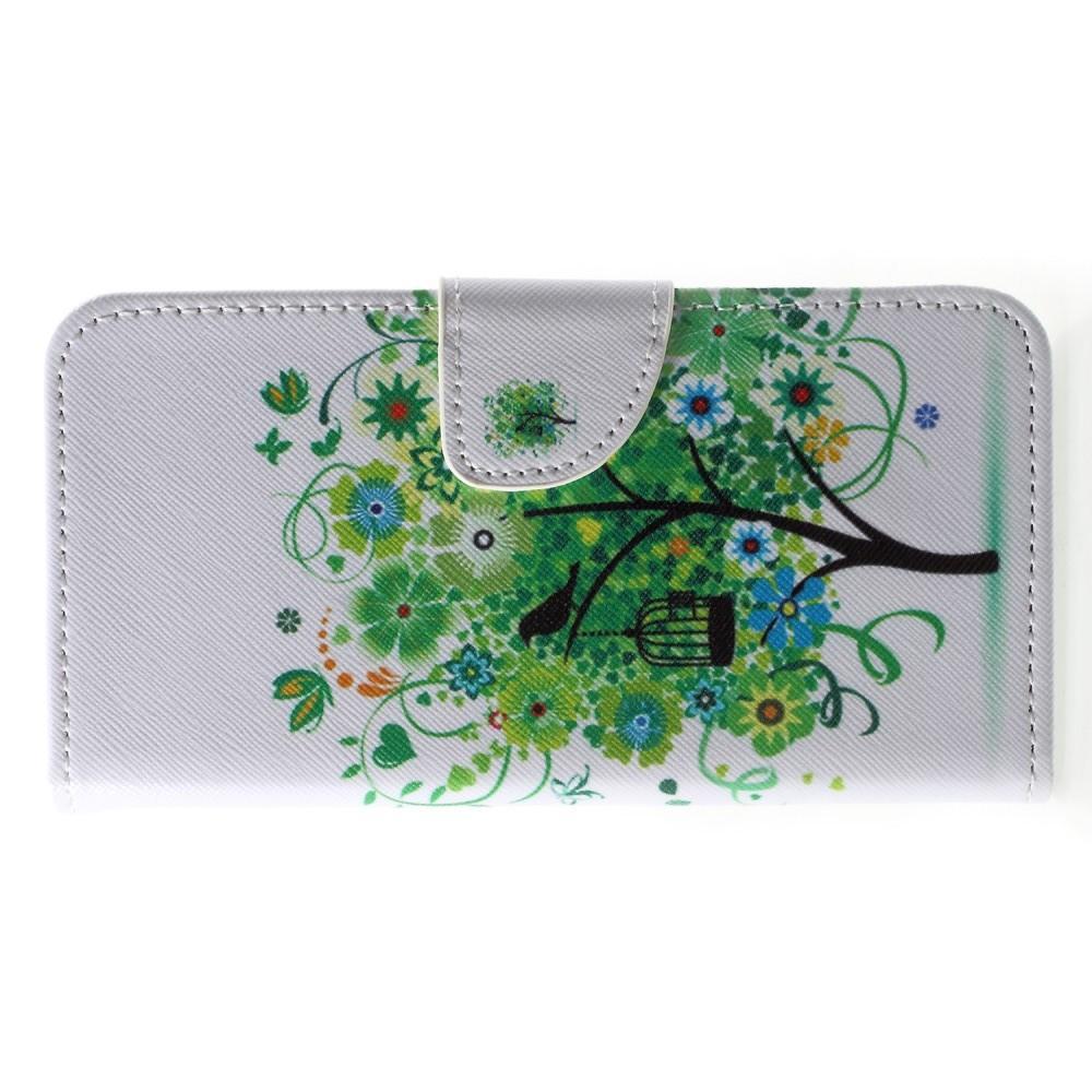 Защитный Флип Чехол для Huawei P20 в Виде Книжки с Рисунком Дерево