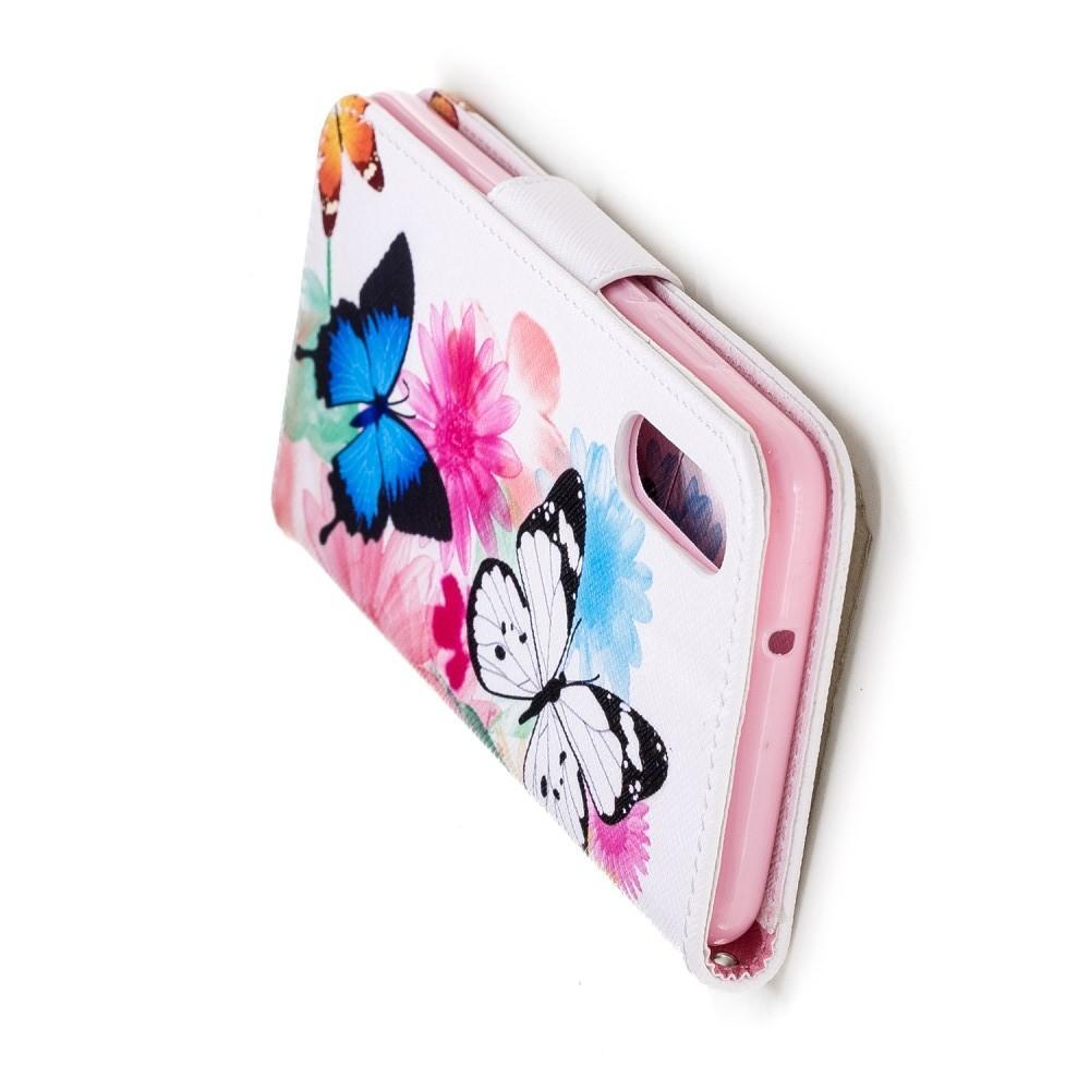 Защитный Флип Чехол для Huawei P20 в Виде Книжки с Рисунком Бабочка