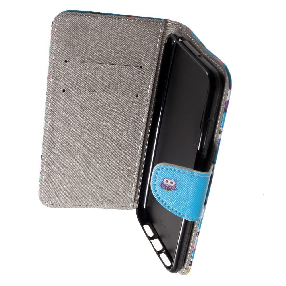 Защитный Флип Чехол для Huawei P20 в Виде Книжки с Рисунком Сова