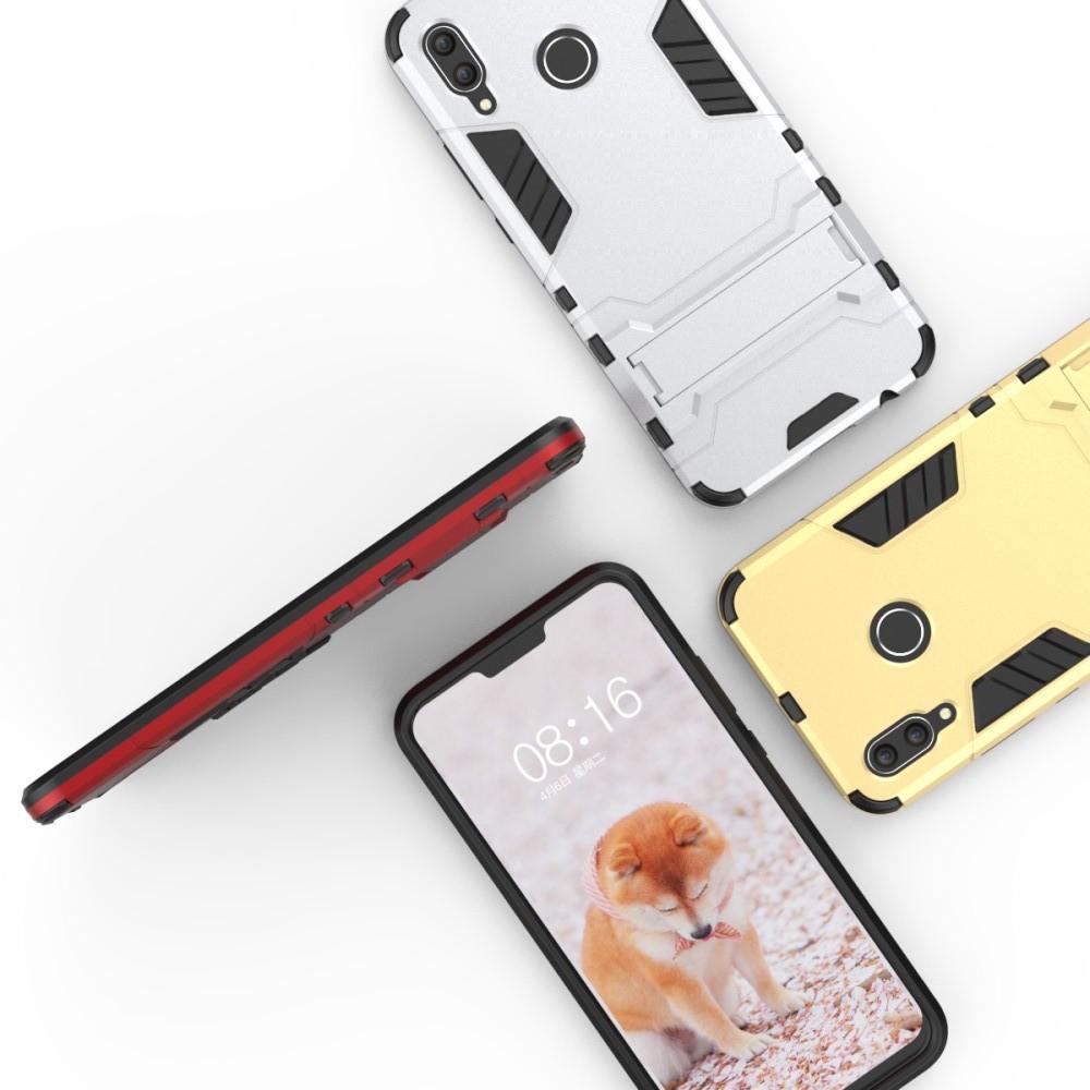 Защитный усиленный гибридный чехол противоударный с подставкой для Huawei nova 3 Белый