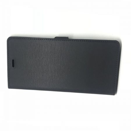 Горизонтальный Искусственно Кожаный Премиум DF Флип Чехол Книжка для Huawei Mate 30 Pro с Боковой Магнитной Застежкой Черный