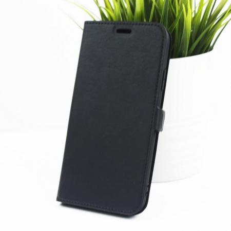 Горизонтальный Искусственно Кожаный Премиум DF Флип Чехол Книжка для iPhone XR с Боковой Магнитной Застежкой Черный