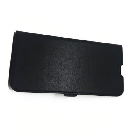 Горизонтальный Искусственно Кожаный Премиум DF Флип Чехол Книжка для Samsung Galaxy A50 с Боковой Магнитной Застежкой Черный