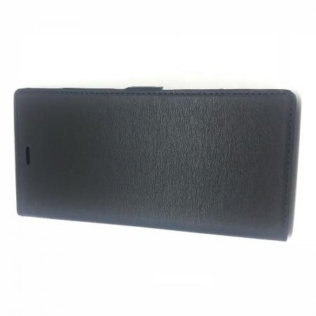 Горизонтальный Искусственно Кожаный Премиум DF Флип Чехол Книжка для Samsung Galaxy Note 10 Plus с Боковой Магнитной Застежкой Черный