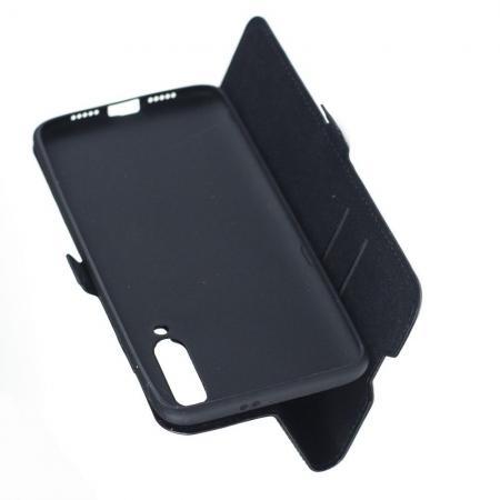 Горизонтальный Искусственно Кожаный Премиум DF Флип Чехол Книжка для Xiaomi Mi 9 с Боковой Магнитной Застежкой Черный