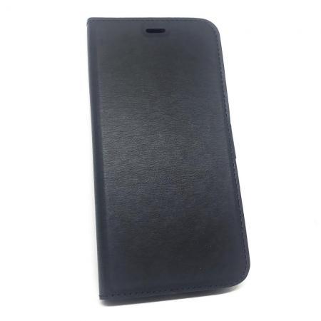 Горизонтальный Искусственно Кожаный Премиум DF Флип Чехол Книжка для Xiaomi Mi A3 с Боковой Магнитной Застежкой Черный