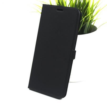 Горизонтальный Искусственно Кожаный Премиум DF Флип Чехол Книжка для Xiaomi Mi Max 3 с Боковой Магнитной Застежкой Черный