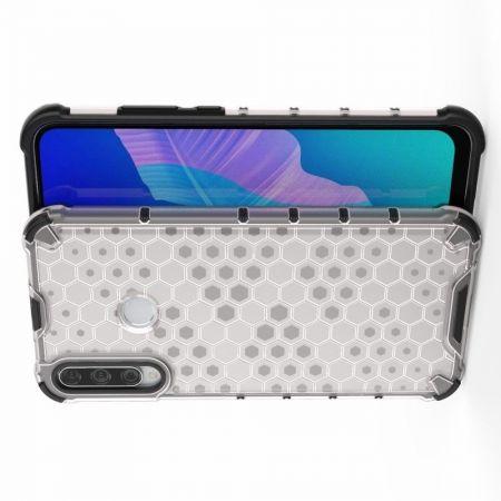 Honeycomb Противоударный Защитный Силиконовый Чехол для Телефона TPU для Huawei P40 lite E / lite E Белый