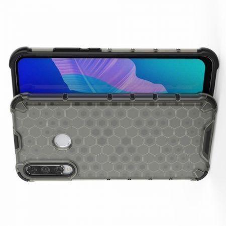 Honeycomb Противоударный Защитный Силиконовый Чехол для Телефона TPU для Huawei P40 lite E / lite E Черный