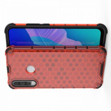Honeycomb Противоударный Защитный Силиконовый Чехол для Телефона TPU для Huawei P40 lite E / lite E Красный