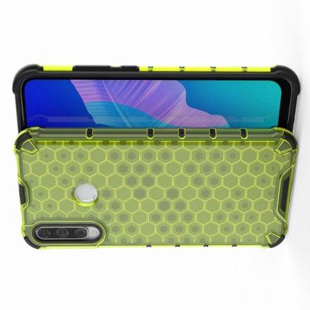 Honeycomb Противоударный Защитный Силиконовый Чехол для Телефона TPU для Huawei P40 lite E / lite E Зеленый