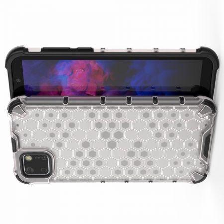 Honeycomb Противоударный Защитный Силиконовый Чехол для Телефона TPU для Huawei Y5p / Honor 9S Белый
