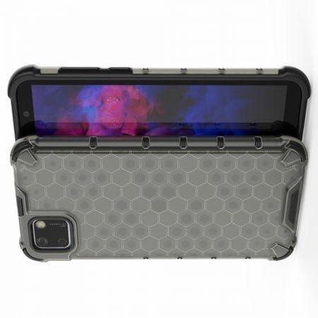 Honeycomb Противоударный Защитный Силиконовый Чехол для Телефона TPU для Huawei Y5p / Honor 9S Черный