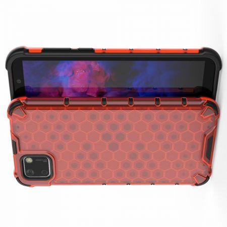 Honeycomb Противоударный Защитный Силиконовый Чехол для Телефона TPU для Huawei Y5p / Honor 9S Красный