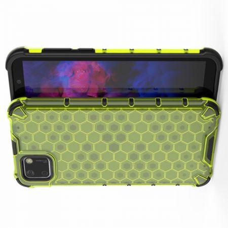 Honeycomb Противоударный Защитный Силиконовый Чехол для Телефона TPU для Huawei Y5p / Honor 9S Зеленый