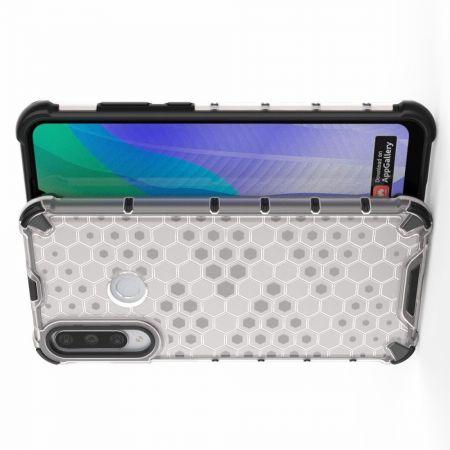 Honeycomb Противоударный Защитный Силиконовый Чехол для Телефона TPU для Huawei Y6p Белый
