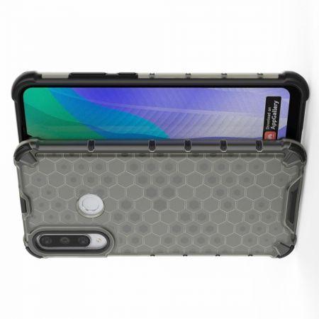 Honeycomb Противоударный Защитный Силиконовый Чехол для Телефона TPU для Huawei Y6p Черный