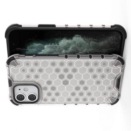 Honeycomb Противоударный Защитный Силиконовый Чехол для Телефона TPU для iPhone 12 mini Белый