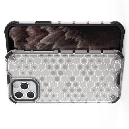 Honeycomb Противоударный Защитный Силиконовый Чехол для Телефона TPU для iPhone 12 Pro 6.1 / Max 6.1 Белый