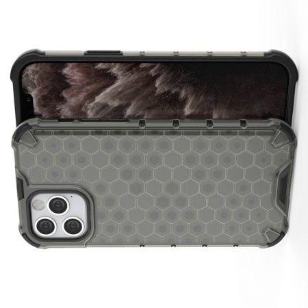 Honeycomb Противоударный Защитный Силиконовый Чехол для Телефона TPU для iPhone 12 Pro 6.1 / Max 6.1 Серый