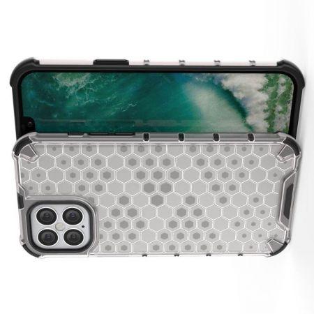 Honeycomb Противоударный Защитный Силиконовый Чехол для Телефона TPU для iPhone 12 Pro Max 6.7 Белый
