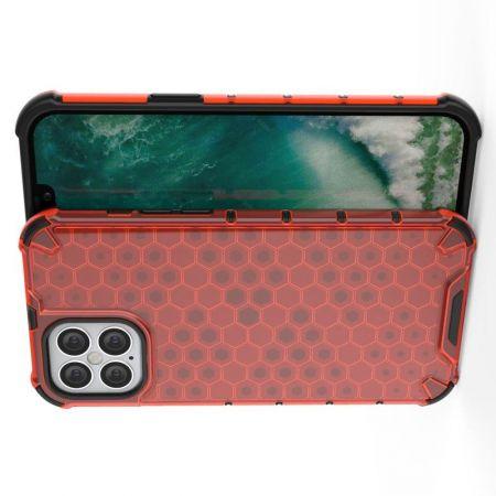 Honeycomb Противоударный Защитный Силиконовый Чехол для Телефона TPU для iPhone 12 Pro Max 6.7 Красный