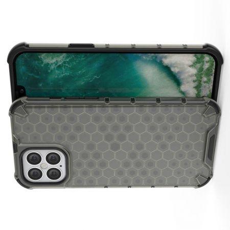 Honeycomb Противоударный Защитный Силиконовый Чехол для Телефона TPU для iPhone 12 Pro Max 6.7 Серый