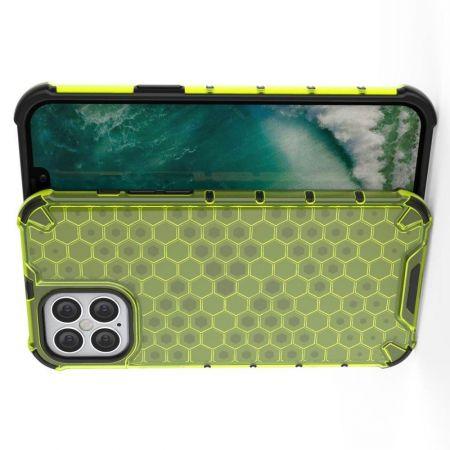 Honeycomb Противоударный Защитный Силиконовый Чехол для Телефона TPU для iPhone 12 Pro Max 6.7 Зеленый