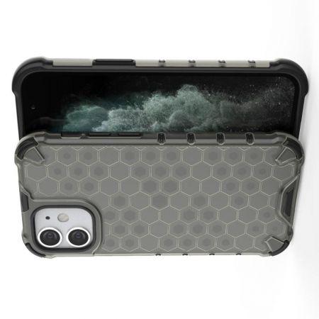 Honeycomb Противоударный Защитный Силиконовый Чехол для Телефона TPU для iPhone 12 mini Серый