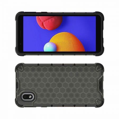 Honeycomb Противоударный Защитный Силиконовый Чехол для Телефона TPU для Samsung Galaxy A01 Core Черный