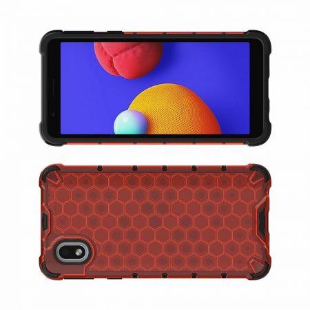 Honeycomb Противоударный Защитный Силиконовый Чехол для Телефона TPU для Samsung Galaxy A01 Core Красный