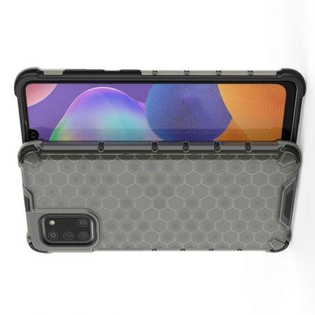 Honeycomb Противоударный Защитный Силиконовый Чехол для Телефона TPU для Samsung Galaxy A31 Серый