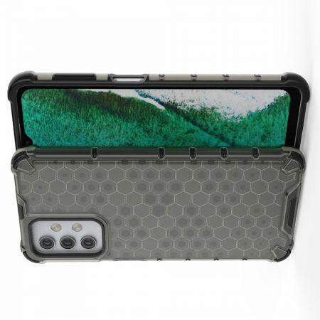 Honeycomb Противоударный Защитный Силиконовый Чехол для Телефона TPU для Samsung Galaxy A32 Черный