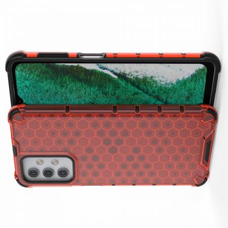 Honeycomb Противоударный Защитный Силиконовый Чехол для Телефона TPU для Samsung Galaxy A32 Красный