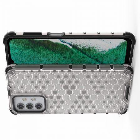 Honeycomb Противоударный Защитный Силиконовый Чехол для Телефона TPU для Samsung Galaxy A32 Серый