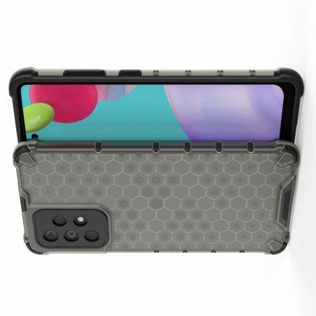 Honeycomb Противоударный Защитный Силиконовый Чехол для Телефона TPU для Samsung Galaxy A52 Черный