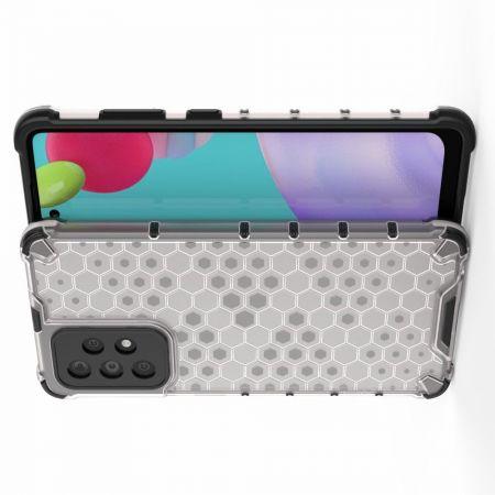 Honeycomb Противоударный Защитный Силиконовый Чехол для Телефона TPU для Samsung Galaxy A52 Серый