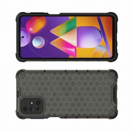 Honeycomb Противоударный Защитный Силиконовый Чехол для Телефона TPU для Samsung Galaxy M31s Черный