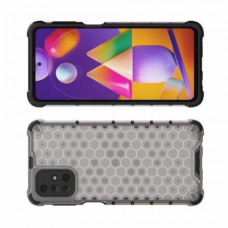 Honeycomb Противоударный Защитный Силиконовый Чехол для Телефона TPU для Samsung Galaxy M31s Серый
